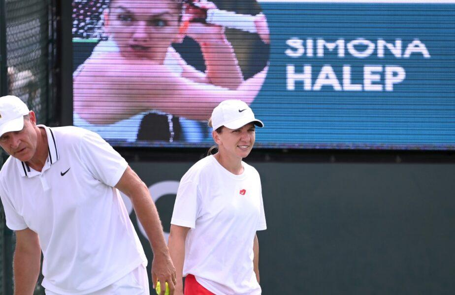 Simona Halep, spectacol total la Indian Wells. Lovituri în stilul lui Roger Federer, la antrenamente