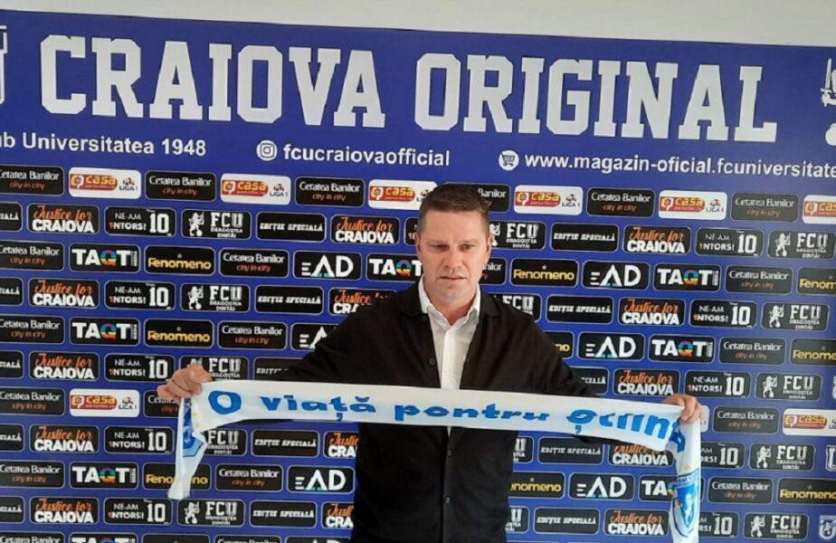OFICIAL | Flavius Stoican, noul antrenor al lui FC U Craiova 1948. Anunţul făcut de echipa lui Adrian Mititelu. Care este principalul obiectiv!