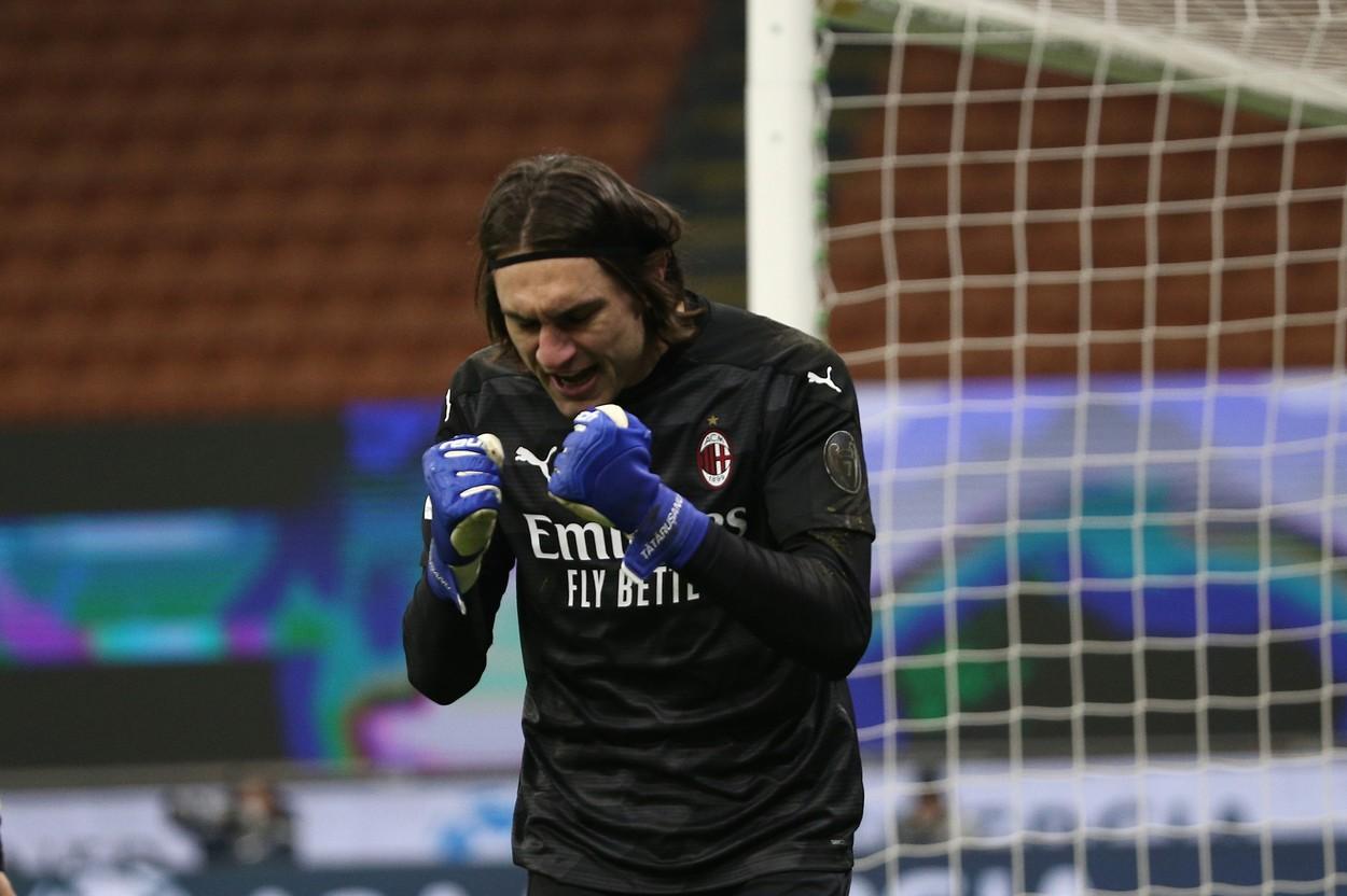 Ciprian Tătărușanu, titular în AC Milan - Verona 3-0